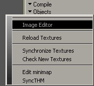 Access to menuImage Editor